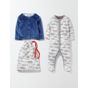 Whales Sleepsuit & Jacket 78164 Accessories at Boden
