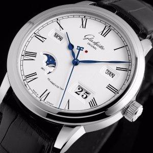 $9800GLASHUTTE Men's Senator Perpetual Calendar Watch 100-02-22-12-05
