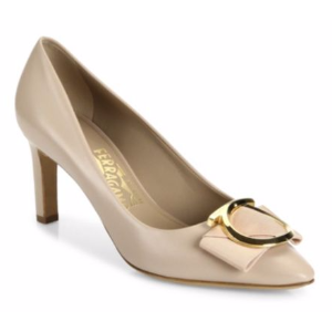 Salvatore Ferragamo - Ezia Gancio Leather Pumps - saks.com