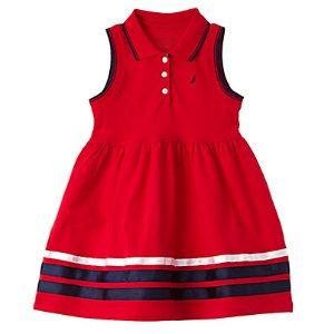 Nautica Girls' Sleeveless Pique Dress