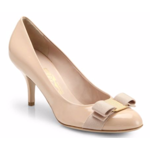 Salvatore Ferragamo - Carla Patent Leather Bow Pumps - saks.com