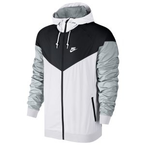 Nike Windrunner Jacket - Men's - Casual - Clothing - White/Black/Wolf Grey/White