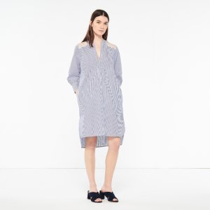 Striped Lace Tunic Dress - Dresses - Sandro-paris.com