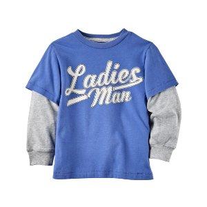 Layered-Look Ladies Man Graphic Tee