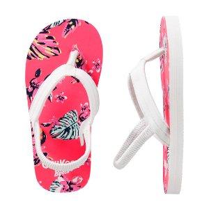 Kid Girl OshKosh Floral Print Flip Flops | OshKosh.com