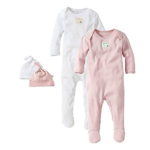 Bee Essentials Set of 2 Coverall & Hat Set - Burts Bees Baby