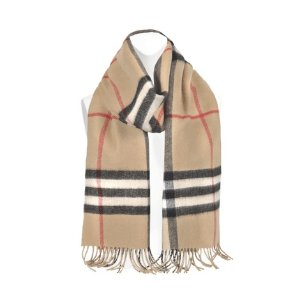 Burberry Metallic Check To Solid scarf
