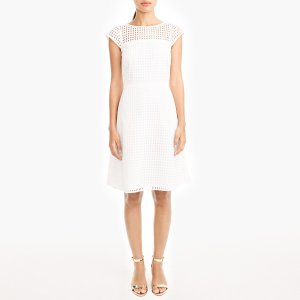 Square-neck eyelet dress : Party | J.Crew Factory