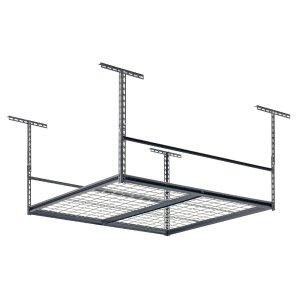 Muscle Rack 48 in. L x 48 in. W x 28 in. H Overhead Storage Rack-LR4848-SV - The Home Depot