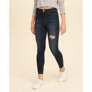 Girls High-Rise Crop Jean Leggings | Girls Bottoms | HollisterCo.com