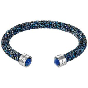 Crystaldust Cuff, Blue - Jewelry - Swarovski Online Shop