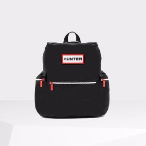 Hunter Black Top Clip Backpack | Official US Hunter Boots Store
