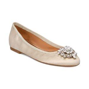 Badgley Mischka Bianca Embellished Evening Flats - Flats - Shoes - Macy's