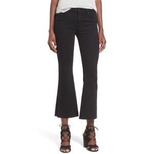 HUDSON Jeans Mia Raw Hem Crop Flare Jean