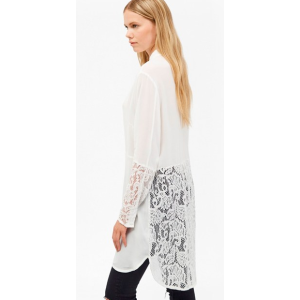 Taza Lace Longline Shirt | Sale | French Connection Usa