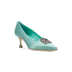 Manolo Blahnikembellished Salzb pumps
