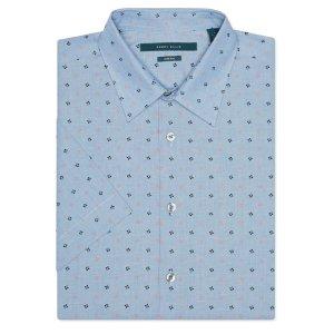Short Sleeve Mini Diamond Shirt - Perry Ellis