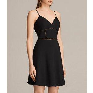ALLSAINTS US: Womens Clementine Dress (Black)
