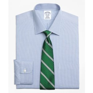 Non-Iron Regent Fit Two-Tone Houndstooth Dress Shirt