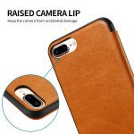 iPhone 7 plus Flip Case, ALYEE Flexcible PU Leather + TPU Material Phone Cases with Card Holder