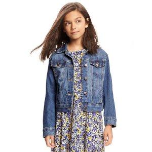 Medium-Wash Denim Jacket for Girls