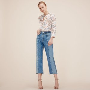 PERRY Straight-cut faded denim jeans - Pants & Jeans - Maje.com