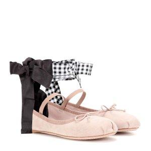 Miu Miu - Suede ballerinas