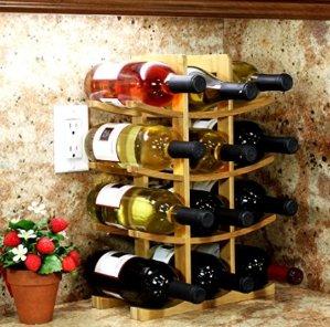 $9.62Oceanstar WR1149 12-Bottle Natural Bamboo Wine Rack