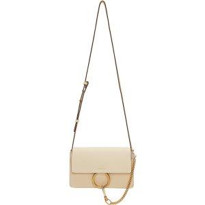 Chloé: Off-White Small Faye Bag
