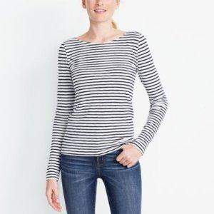 Long-sleeve striped artist T-shirt