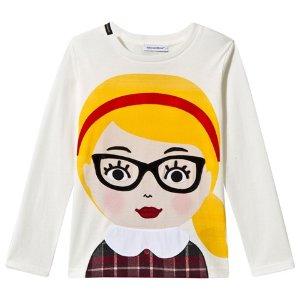 Dolce & Gabbana White Girl with Glasses Applique Tee | AlexandAlexa