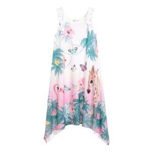 Printed Jersey Dress | White/giraffe | Kids | H&M US