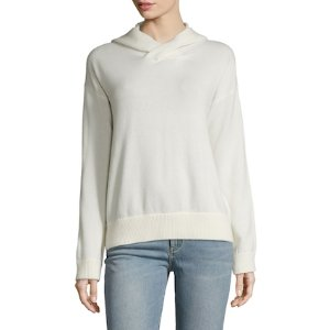 Cashmere Crossover Hoodie by Vince at Gilt