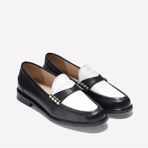 Mazie Loafers in Black-White : Womens Shoes | Cole Haan