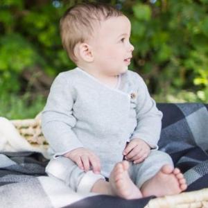 Organic Cotton Loose Pique Kimono Top & Pant Set