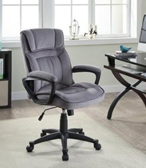 6216 Serta Executive Office Chair in Velvet Gray Microfiber