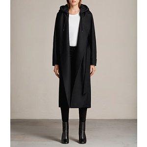 ALLSAINTS US: Womens Sienna Coat (Black)