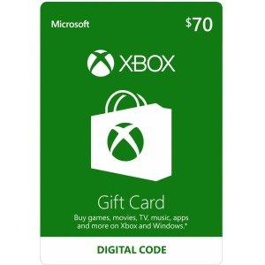 $63Xbox $70 Gift Card - Digital Code