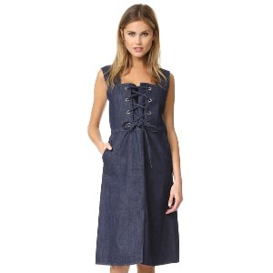 See by Chloe Denim Lace Up Dress | 15% off first app purchase with code: 15FORYOU
