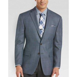 Lauren by Ralph Lauren Blue Windowpane Sport Coat - Men's Sport Coats   Men's Wearhouse