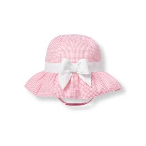 Baby Girl Strawberry Gingham Gingham Bucket Hat at JanieandJack