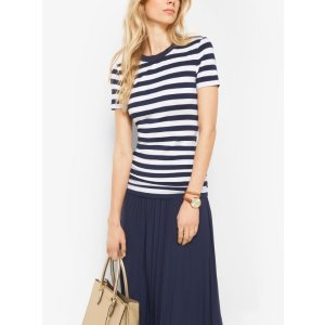 Striped Stretch-viscose Shirt | Michael Kors