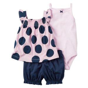 Baby Girl 3-Piece Bubble Short Set   Carters.com