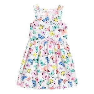Patterned Jersey Dress | White/butterflies | Kids | H&M US