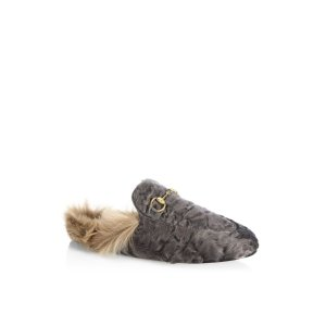 Princetown Fur Mule Slides by Gucci