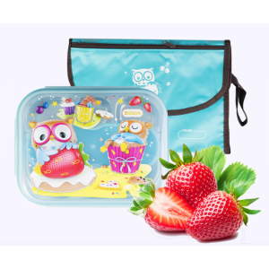 [Price Drop] INP PORORO Lunch Box Set with Pouch Blue