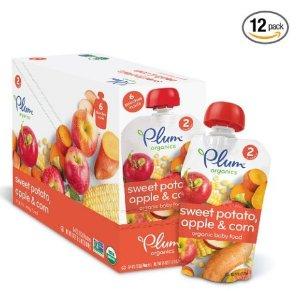 12-Pack of 4-oz Plum Organics Stage 2 Baby Food (Various Flavors)