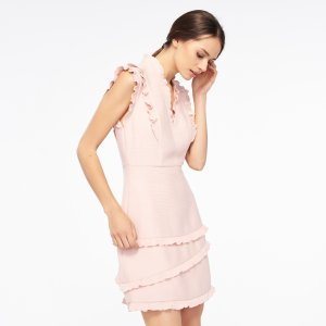 Honeycomb Fabric Sleeveless Dress - Dresses - Sandro-paris.com