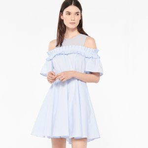 Flared Dress With Bare Shoulders - Dresses - Sandro-paris.com