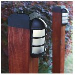 Paradise GL23877BK Solar Cast LED Post Cap Light